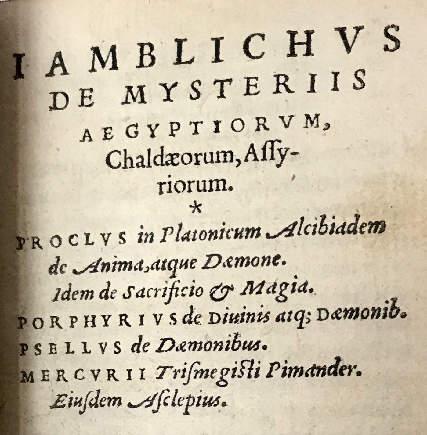 IAMBLICHUS, et al.