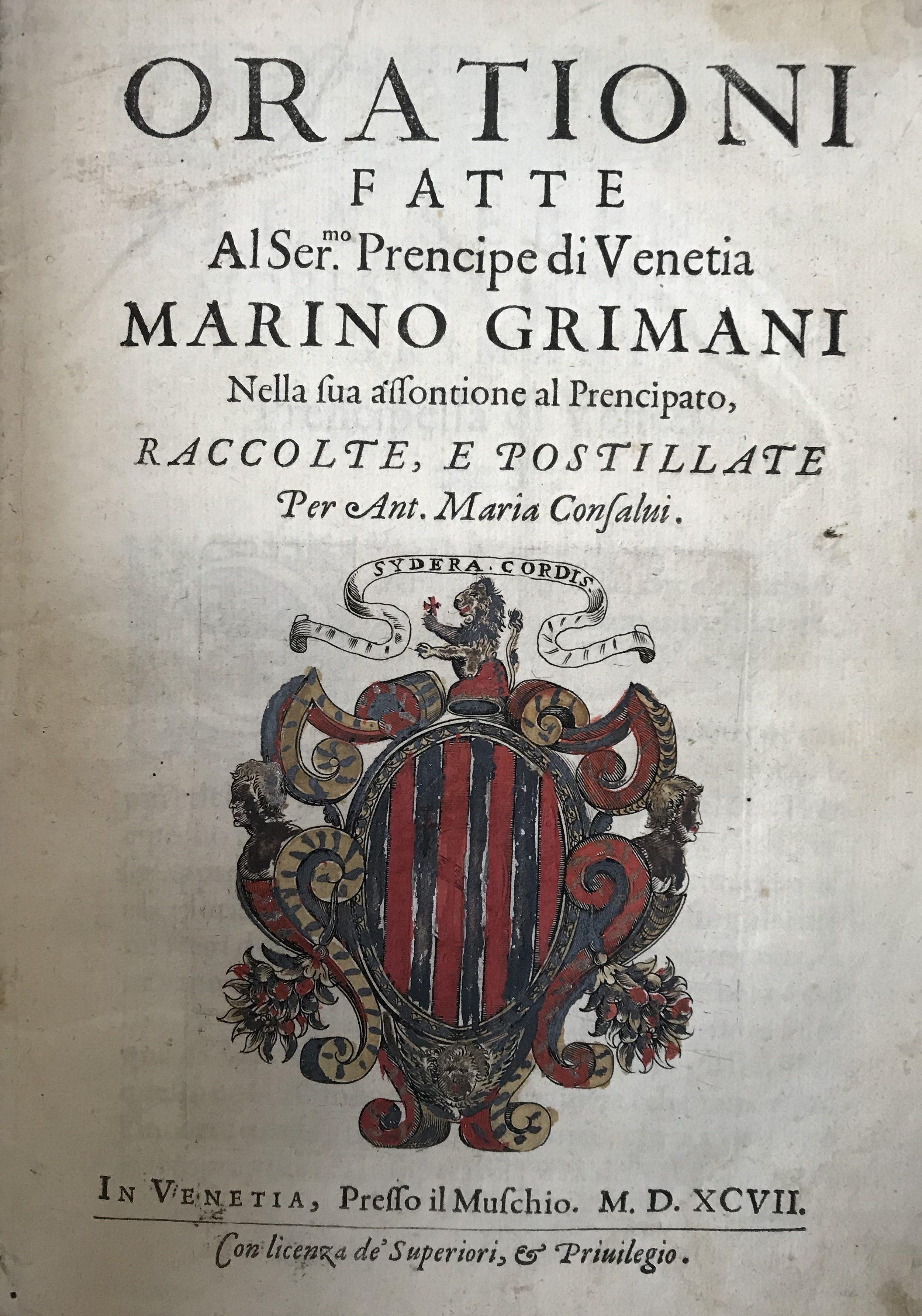 CONSALVI, Antonio Maria (Ed.)