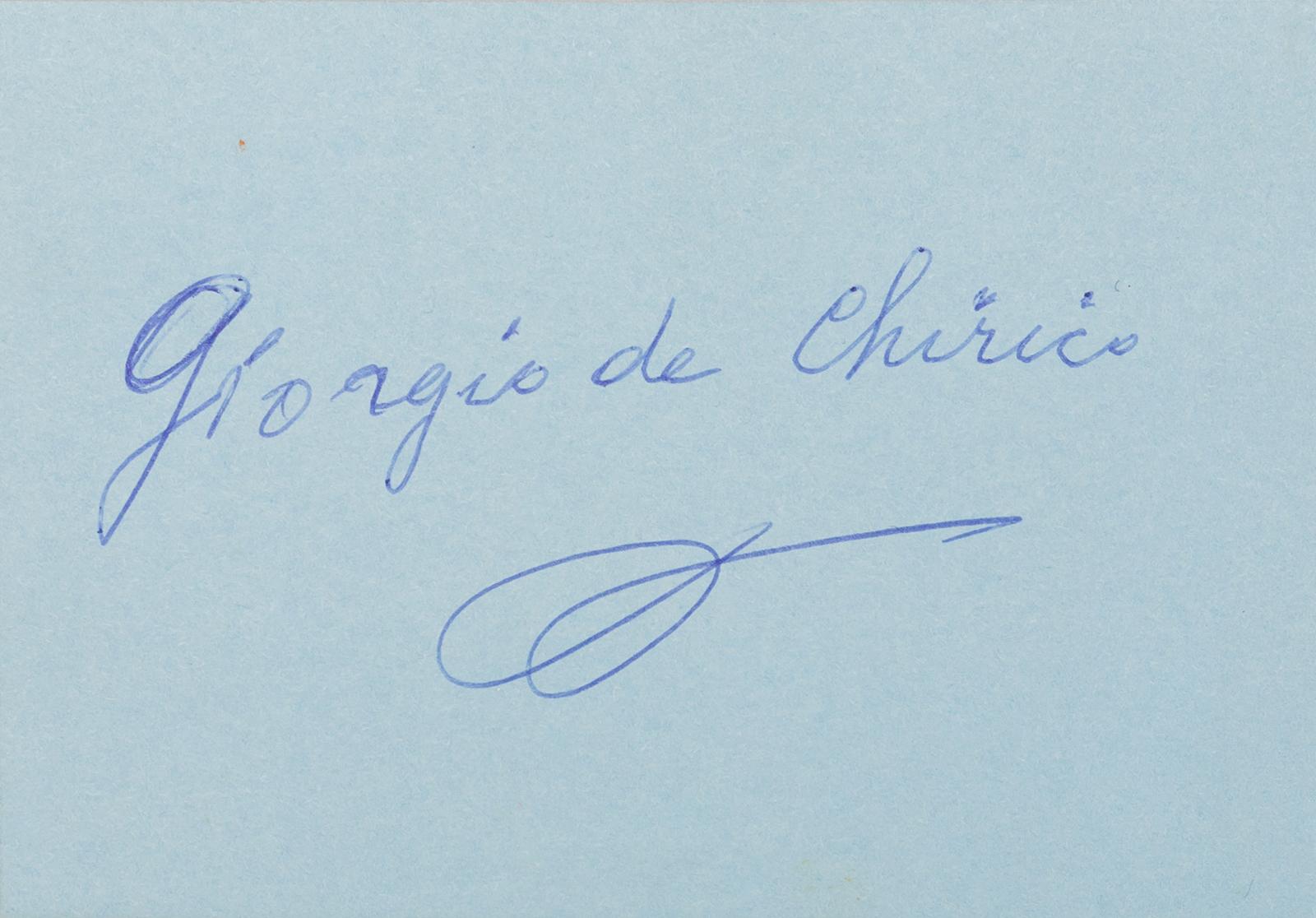 DE CHIRICO, Giorgio (Autograph)