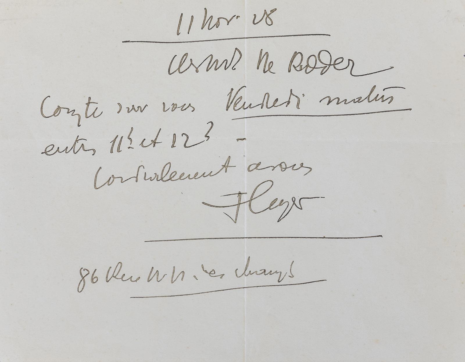 LEGER, Ferdinand (Autograph)