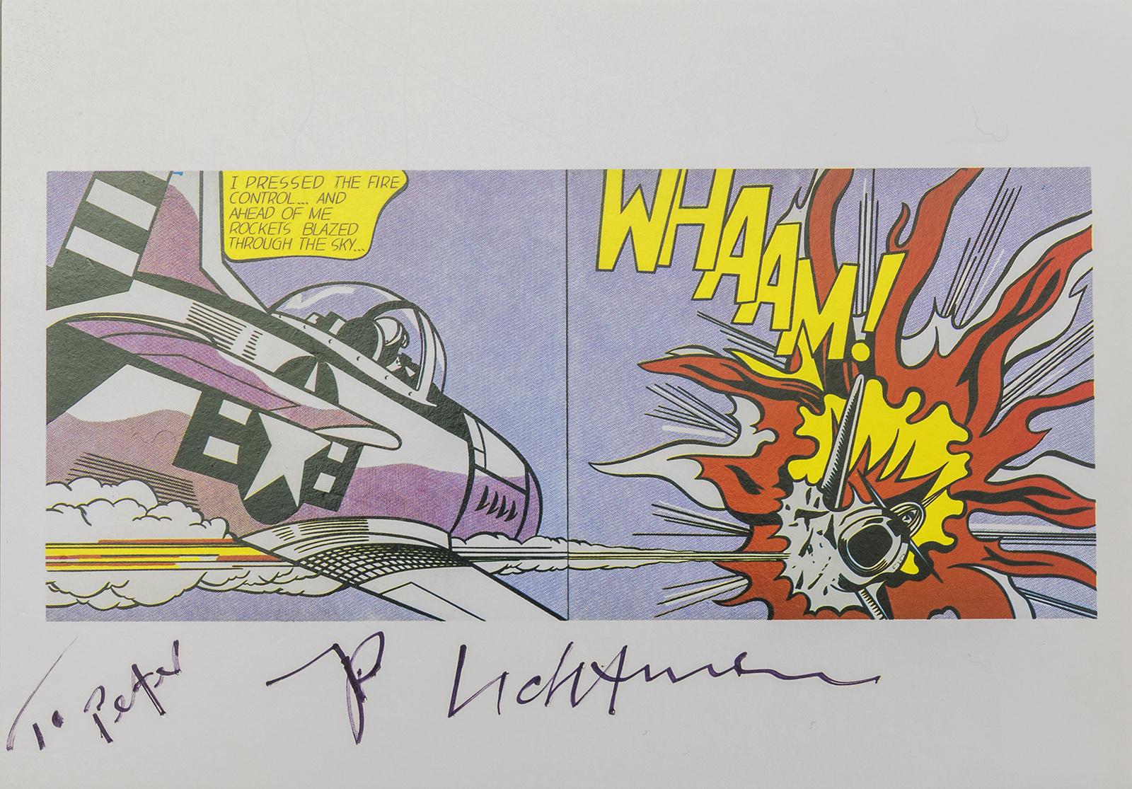 LICHTENSTEIN, Roy (Autograph)