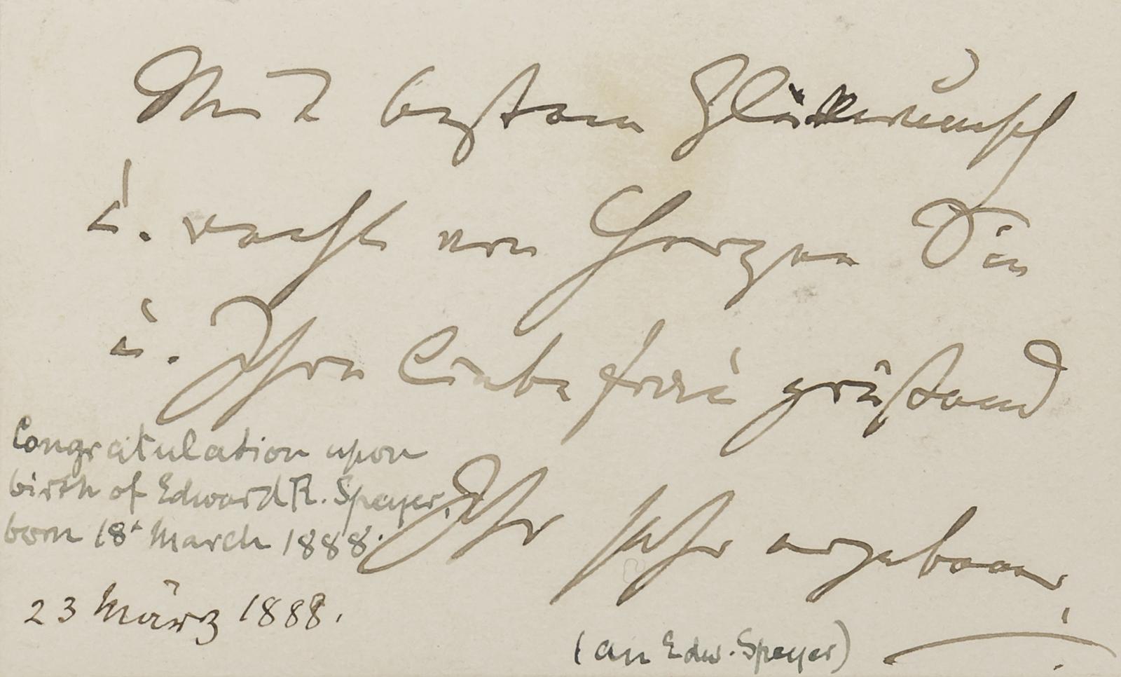 BRAHMS, Johannes (Autograph)