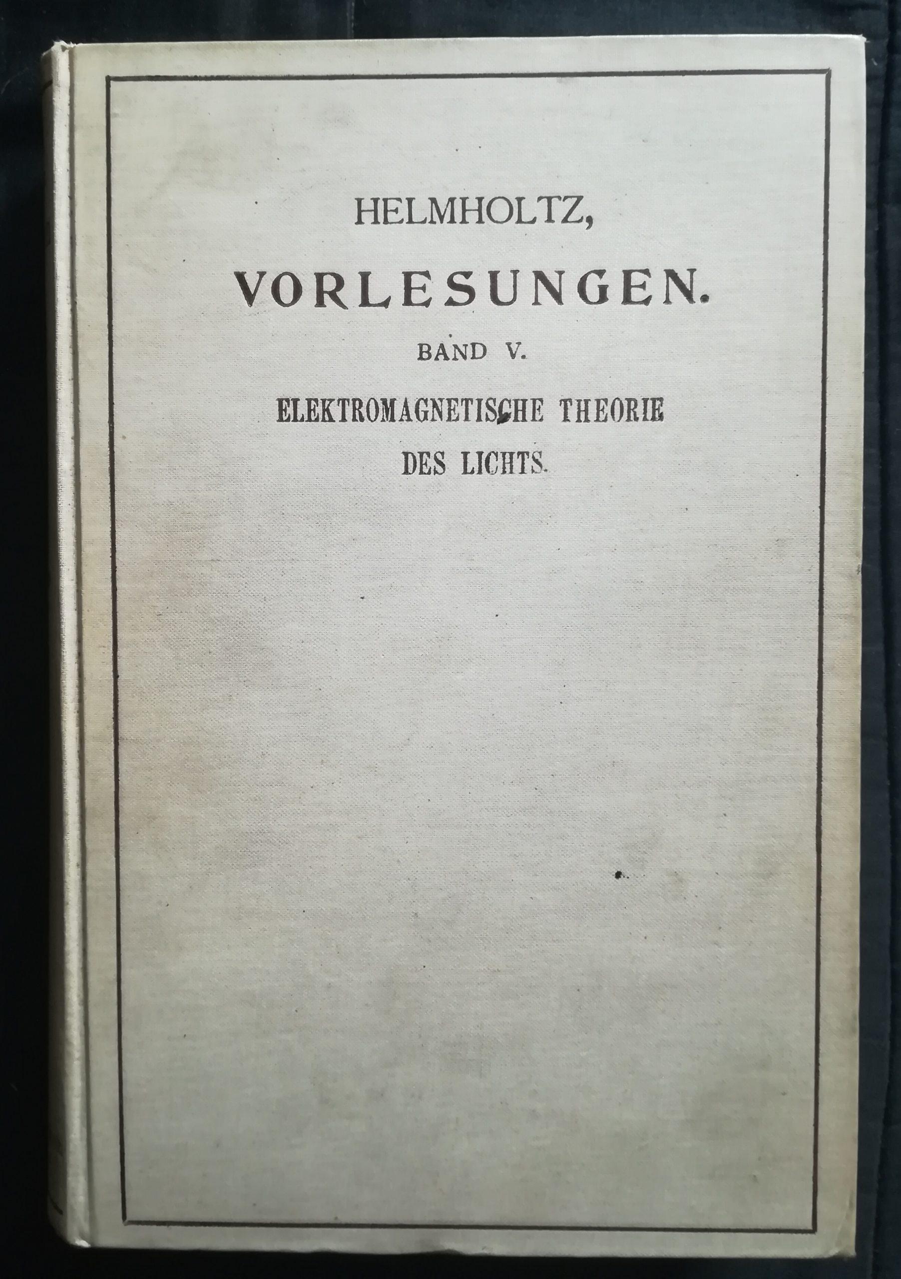 VON HELMHOLTZ, Hermann