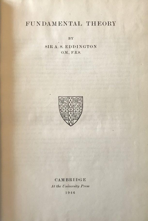 EDDINGTON, Arthur O. M.