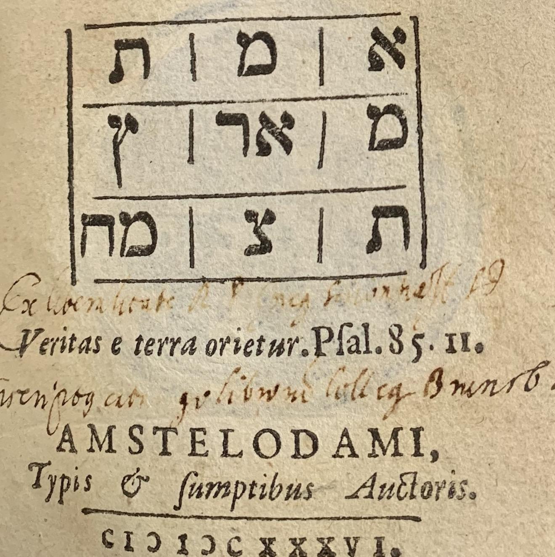MENASSEH, Ben Israel; VEDELIUS, Nicolaus