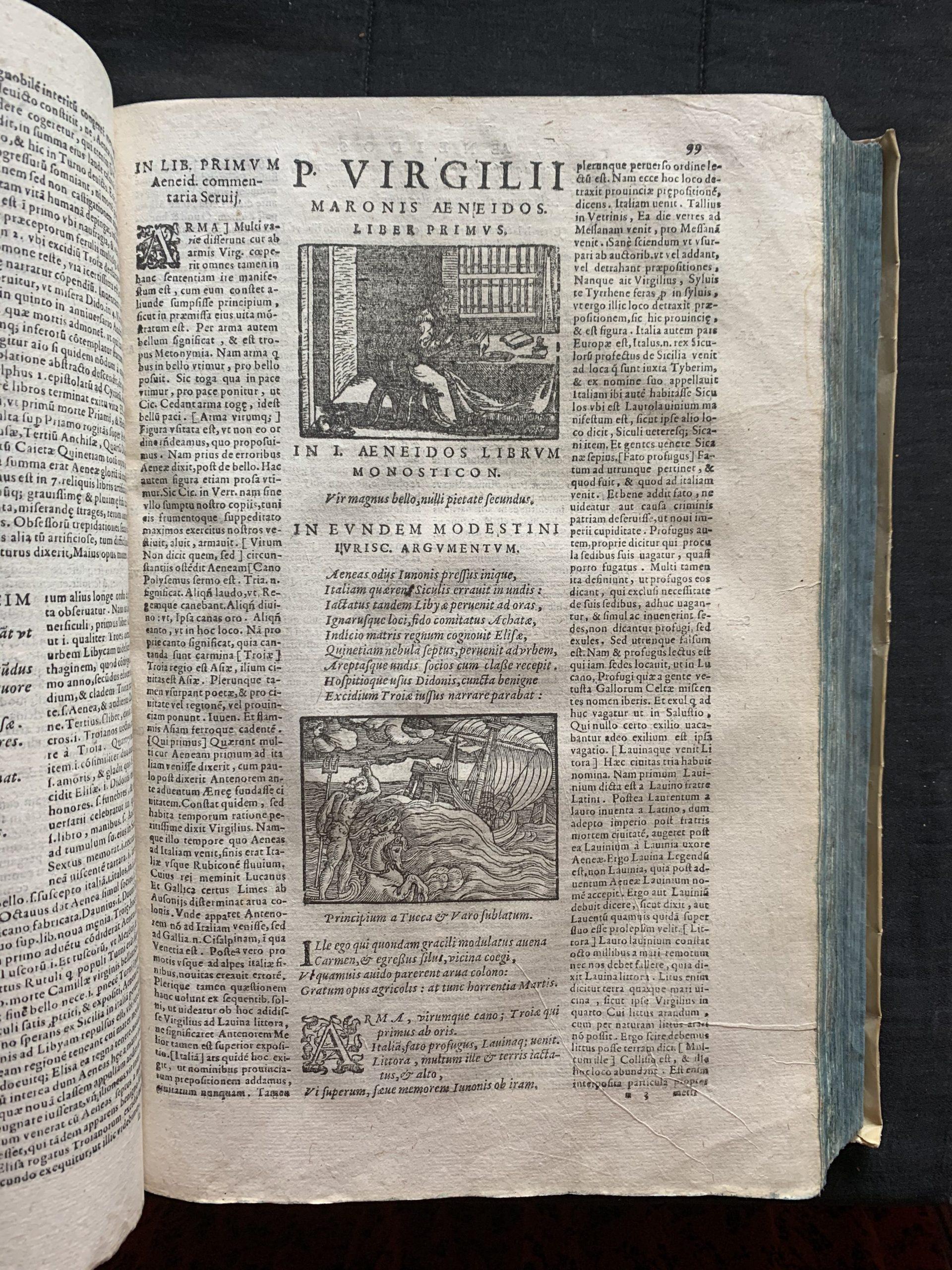 VERGILIUS MARO, Publius; BADIUS, Josse; PROBUS, Marcus Valerius; SERVIUS; VIVES, Joan Lluís; et al.