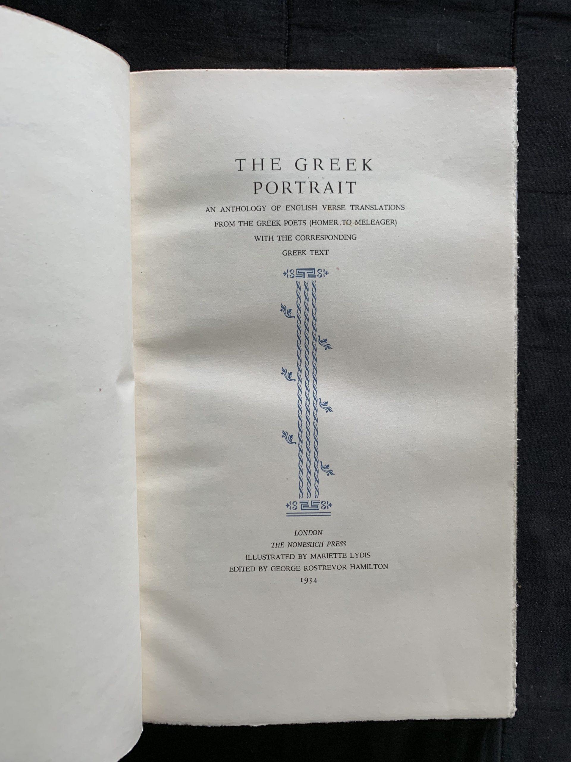 HAMILTON, George Rostrevor (ed.)