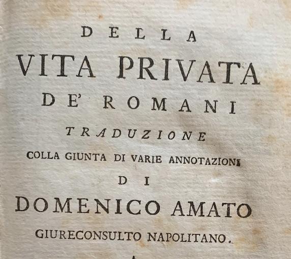 D'ARNAY, Jean Rodolphe; AMATO, Domenico (tr.)