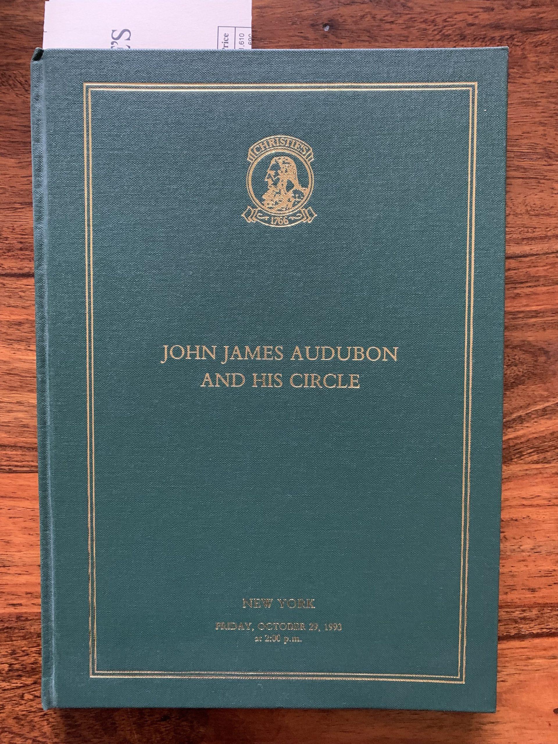Christie's. John James Audubon and His Circle.