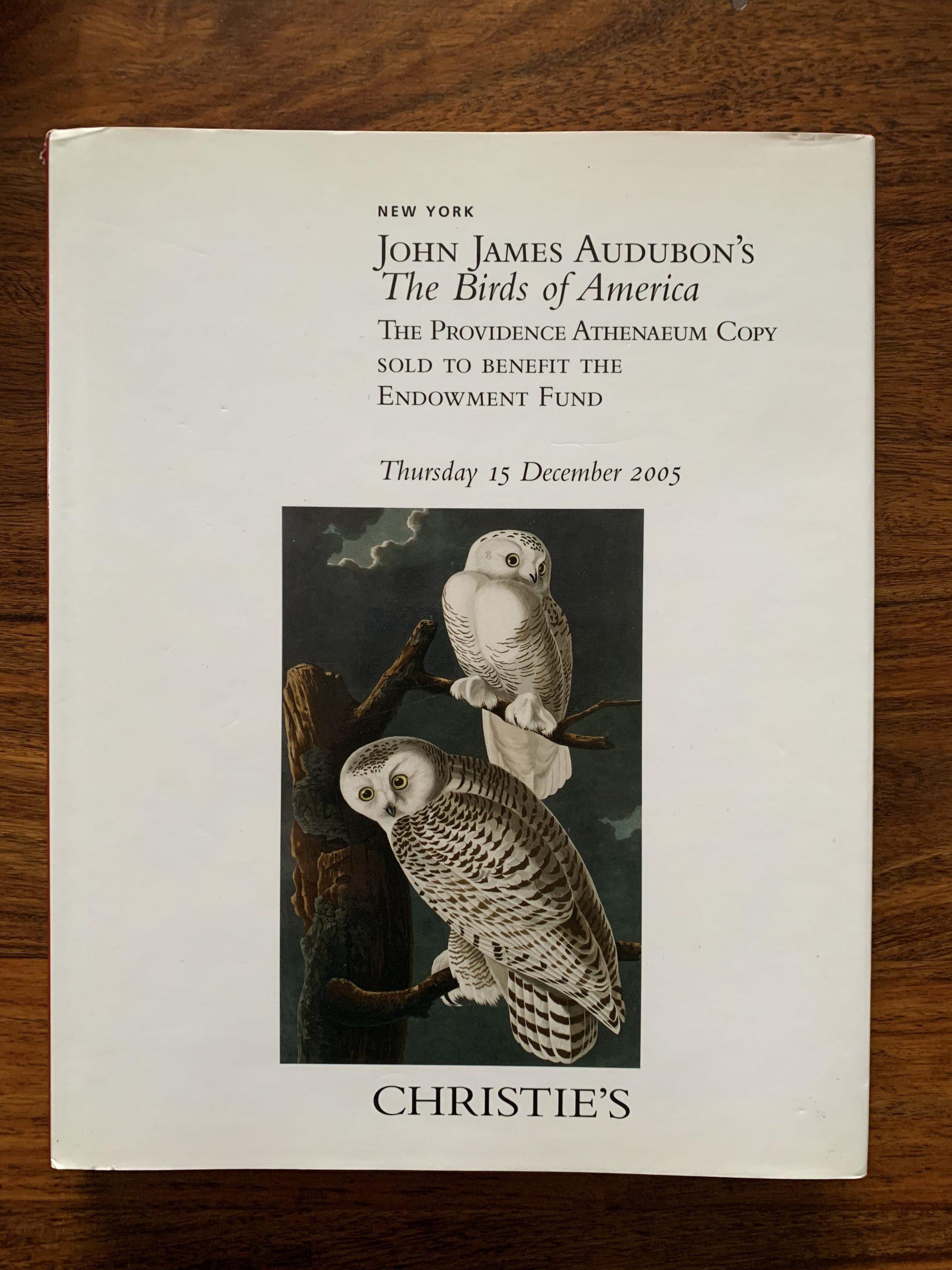 Christie's. John James Audubon's The Birds of America