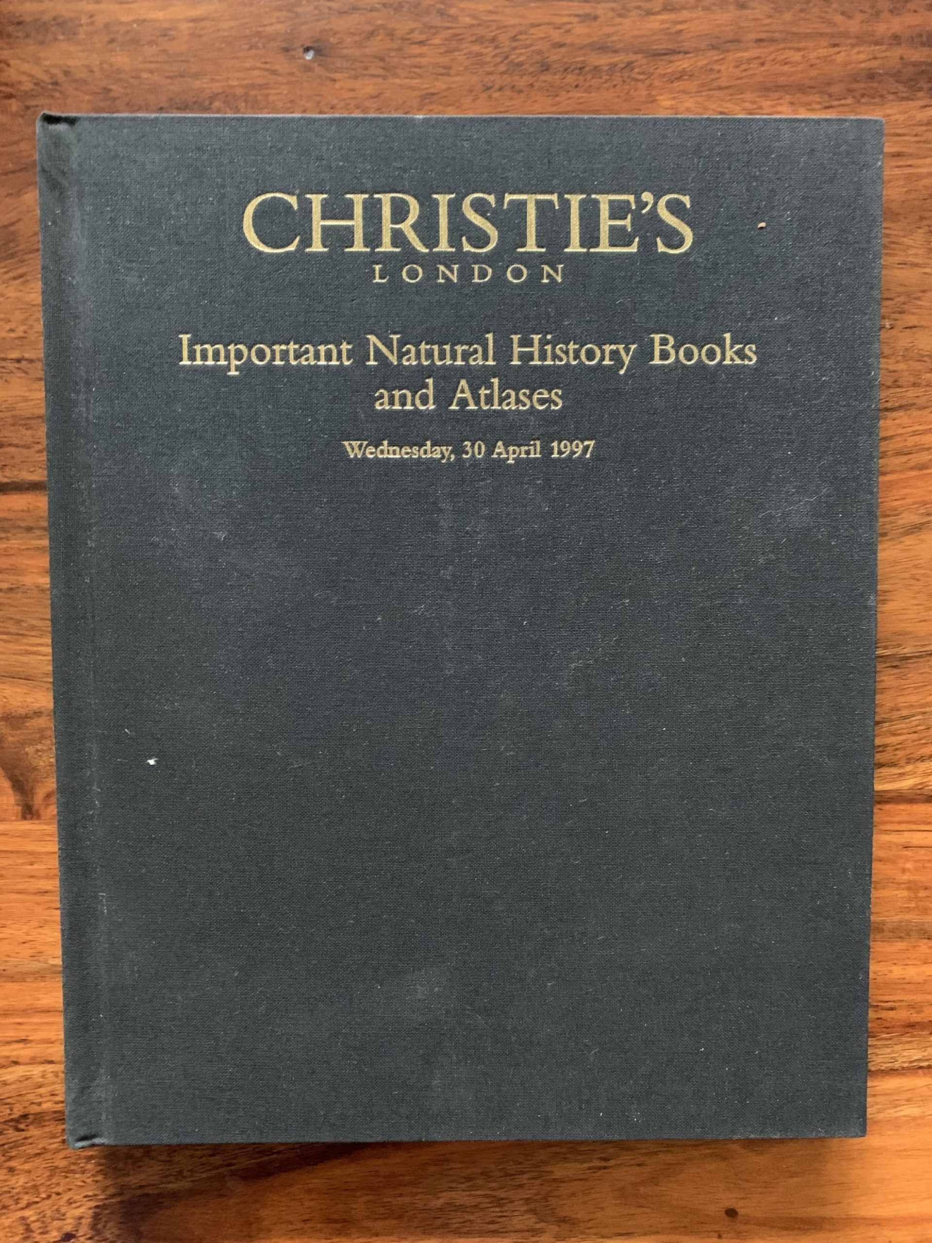 Christie's. Important Natural History Books and Atlases.