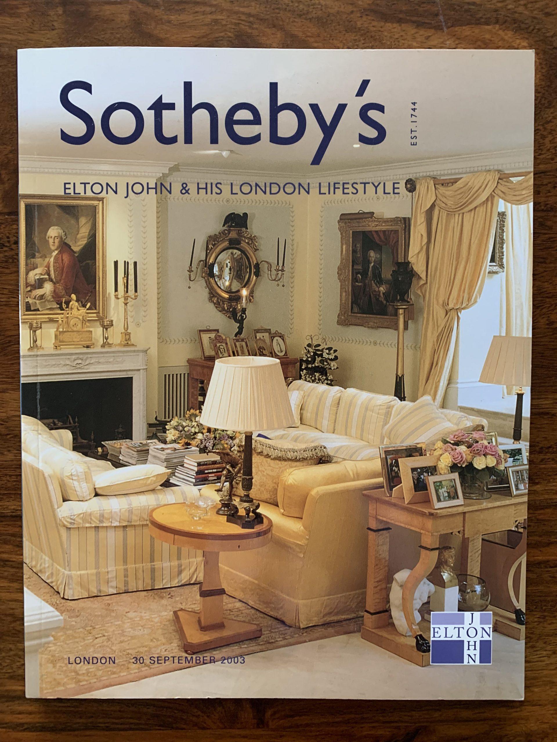 Sotheby's. Elton John & His London Lifestyle.