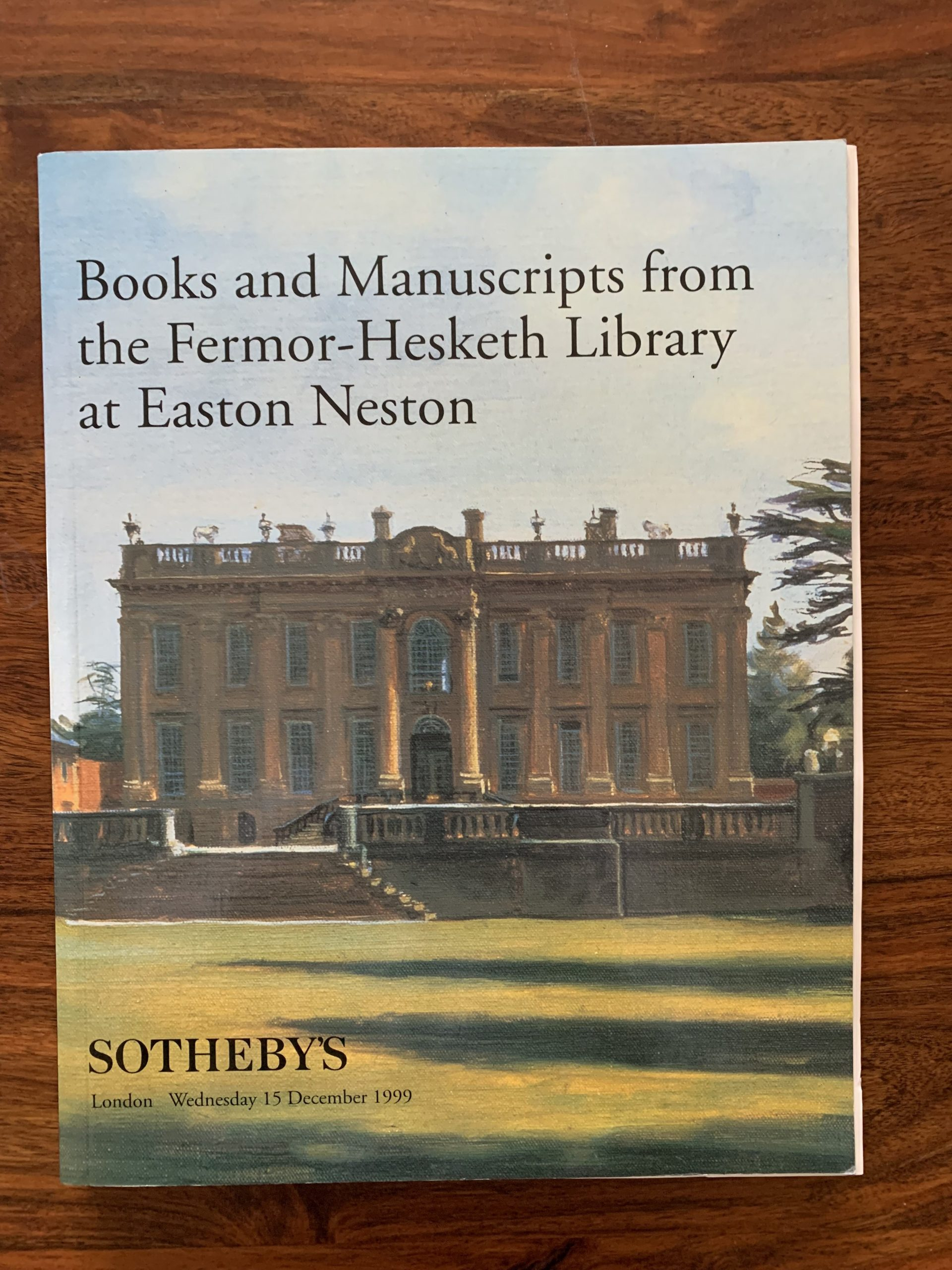Sotheby's. Books and Manuscripts from the Fermor-Hesketh Library