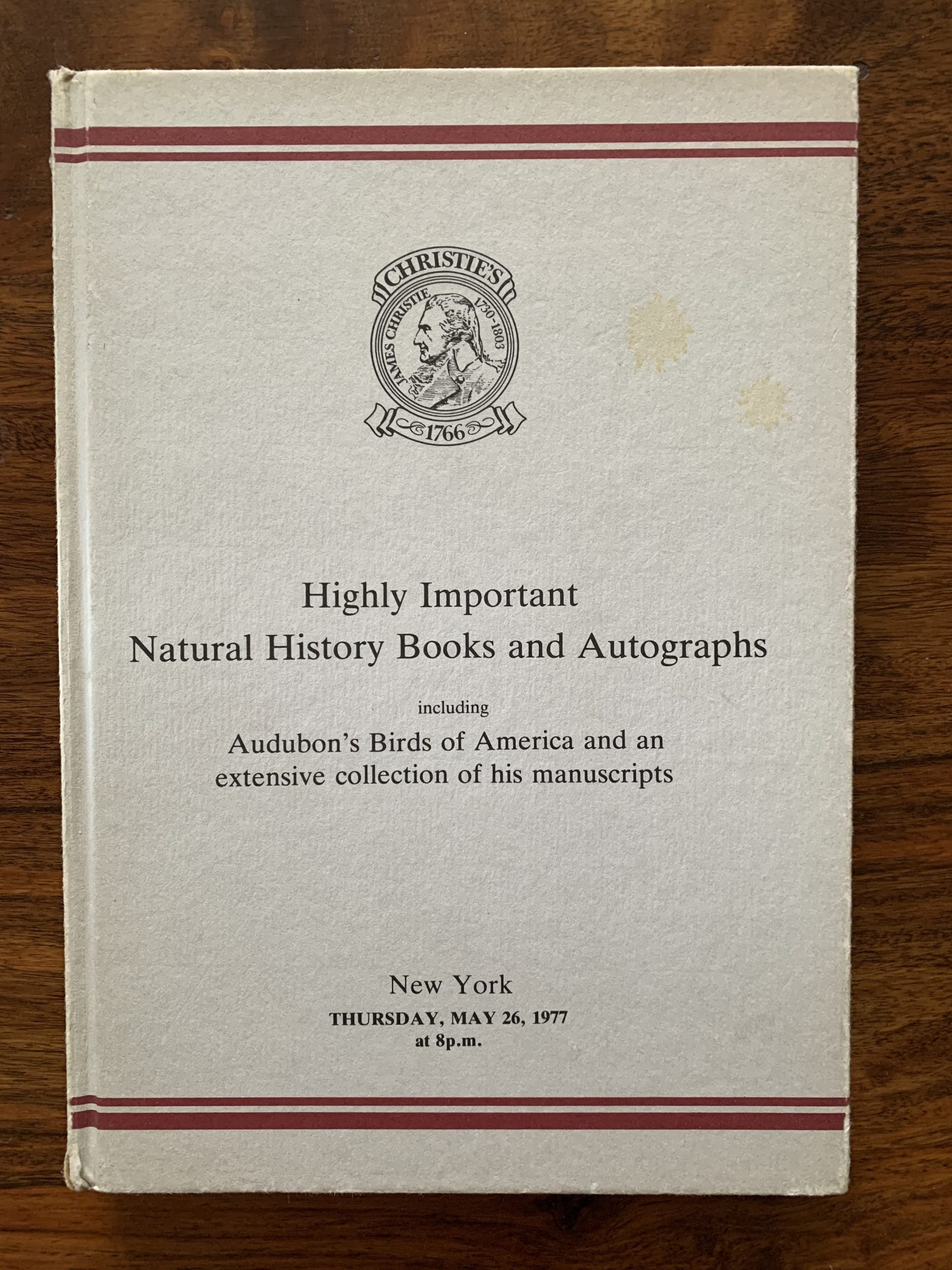 Christie's. Highly Important Natural History Books and Autographs