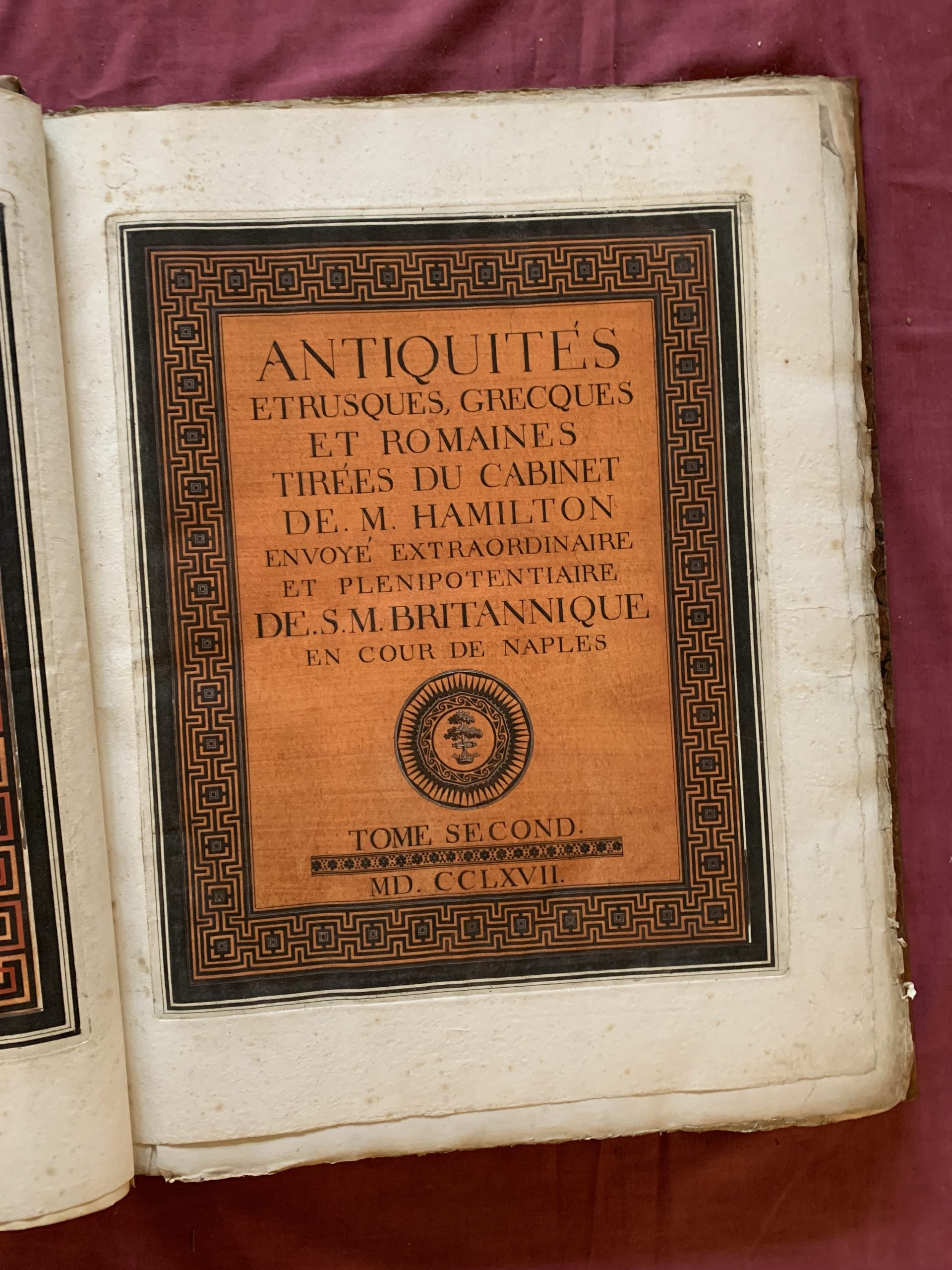 D'HANCARVILLE, Baron [Pierre-Francois Hugues]; HAMILTON, Sir William.