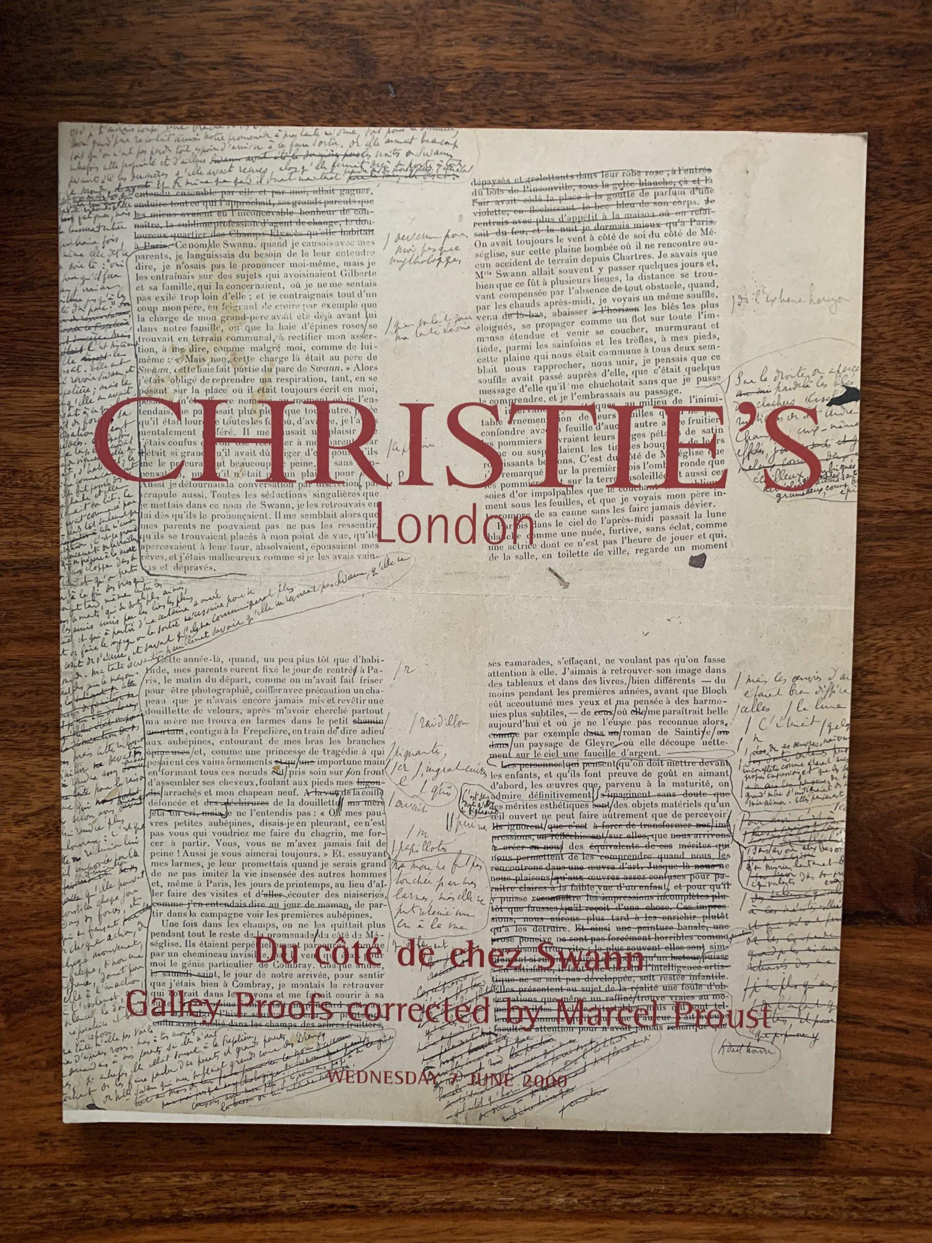 Christie's. Du Cote De Chez Swann