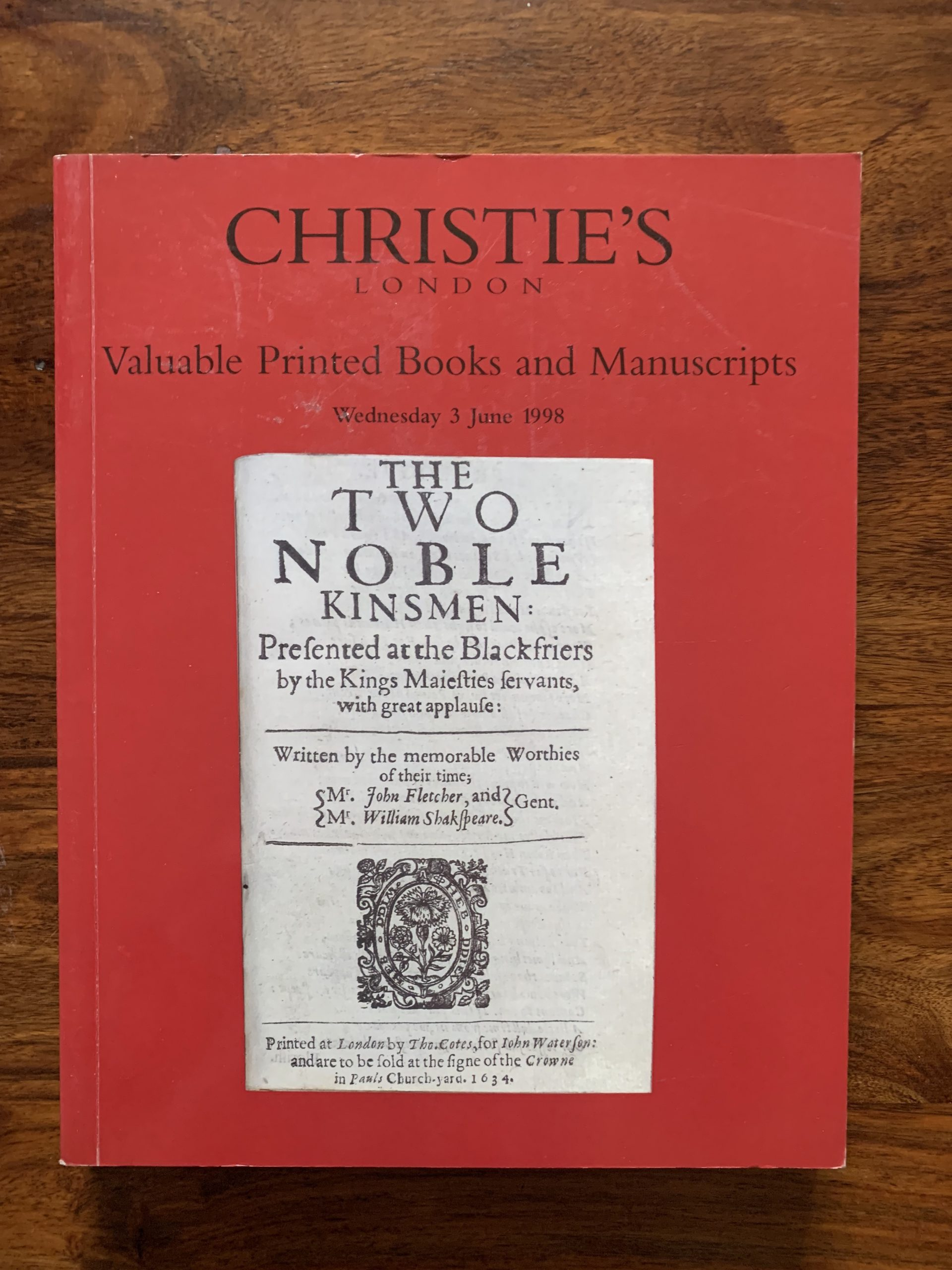 Christie's. Valuable Printed Books And Manuscripts.