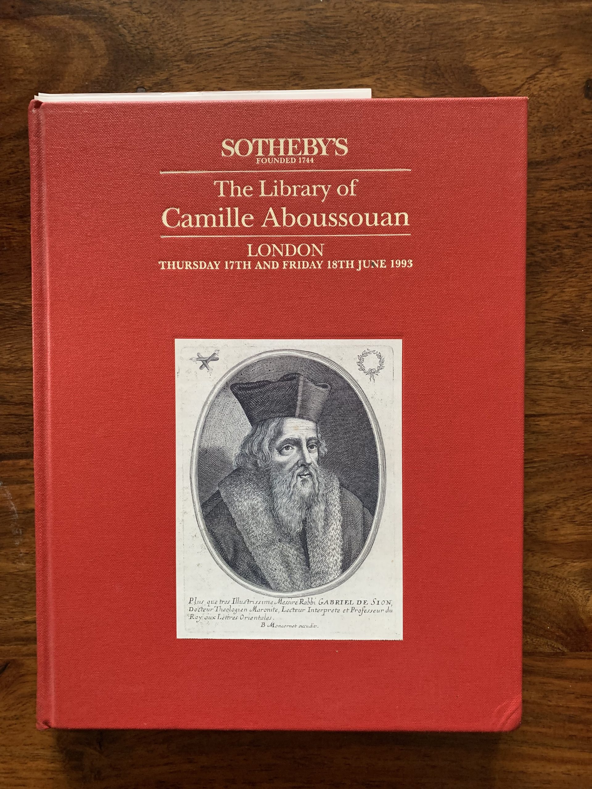 Sotheby's. The library of Camille Aboussouan.