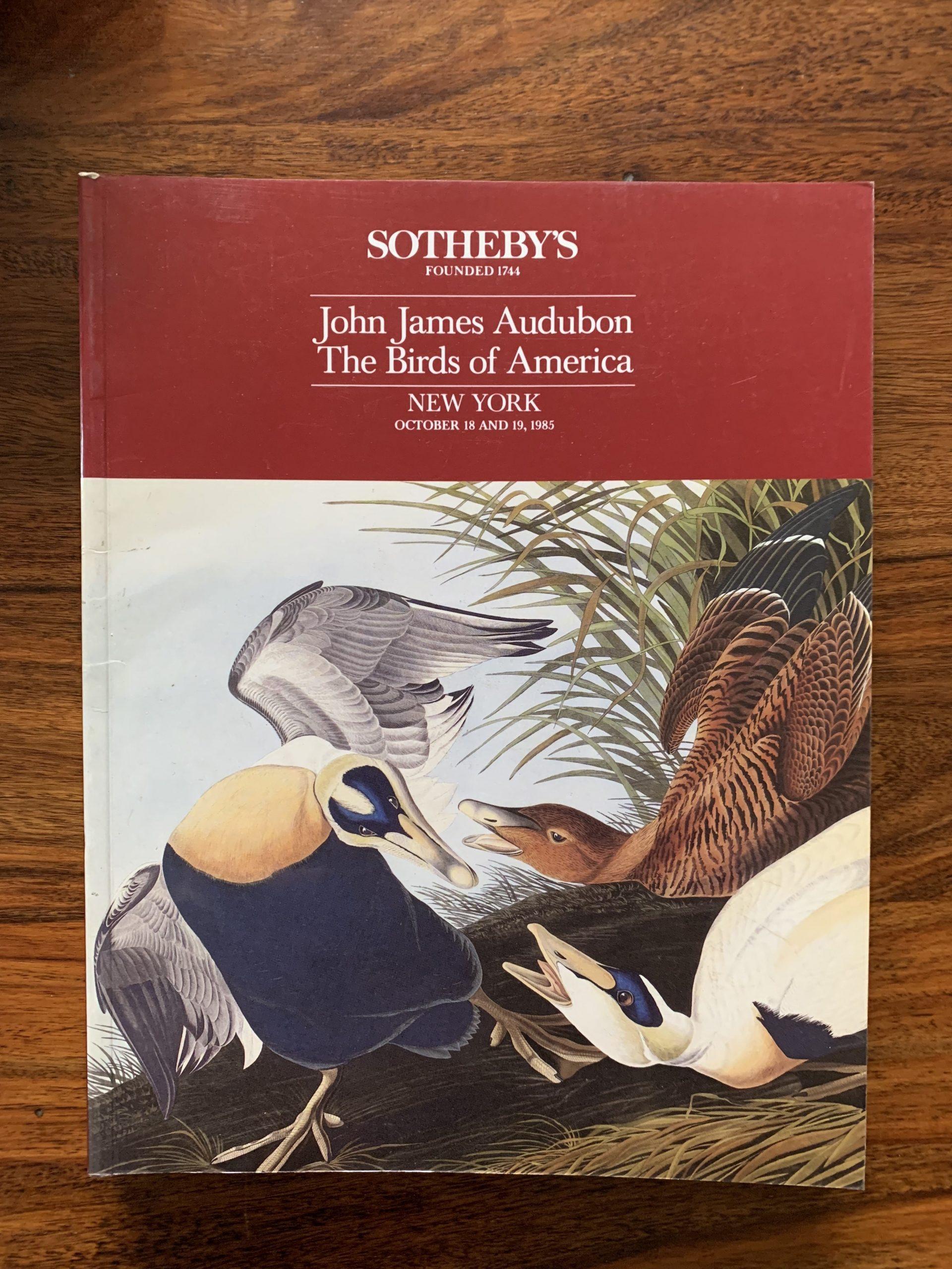 Sotheby's. John James Audubon The Birds of America.