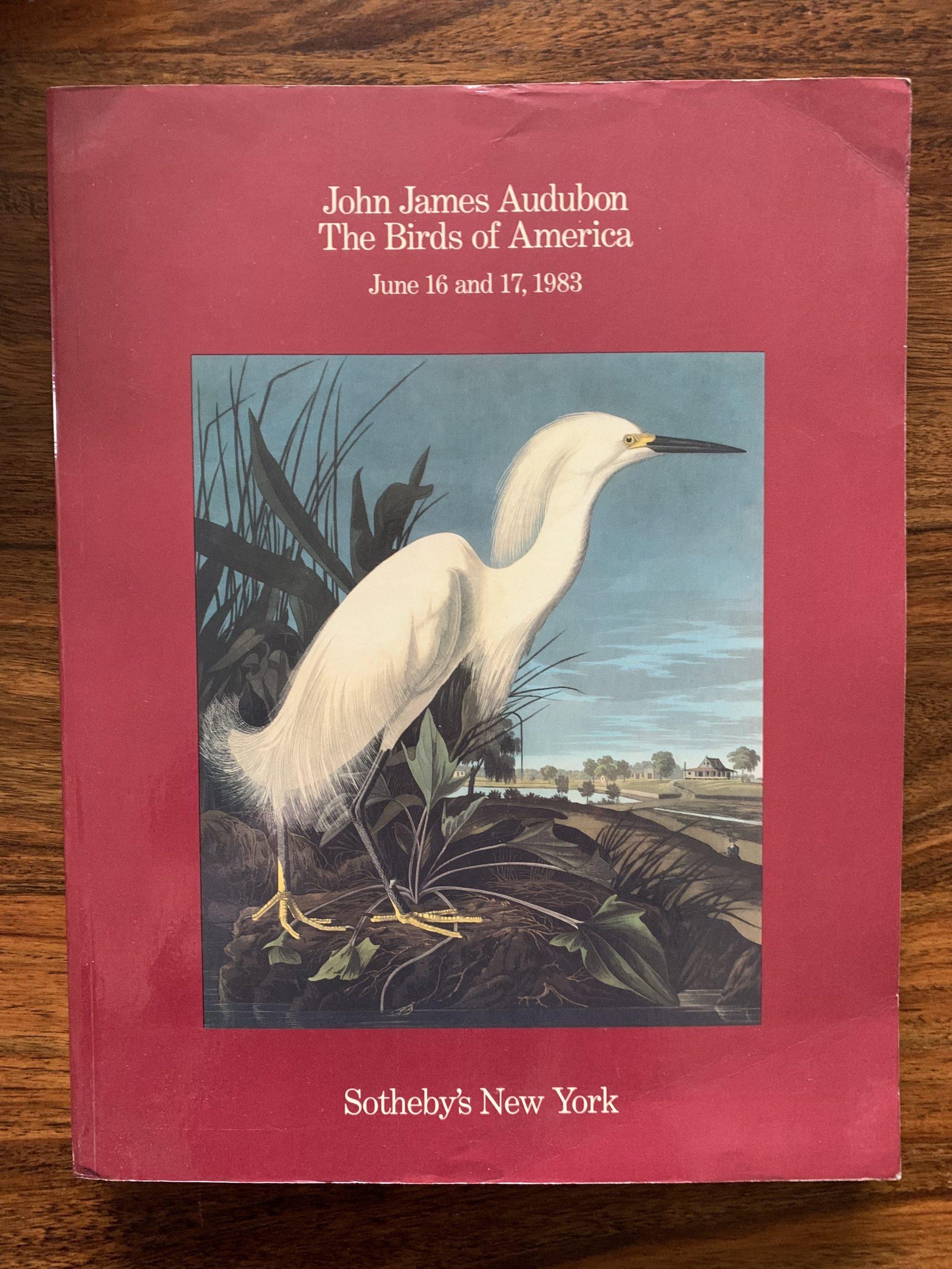 Sotheby's. John James Audubon The Birds Of America