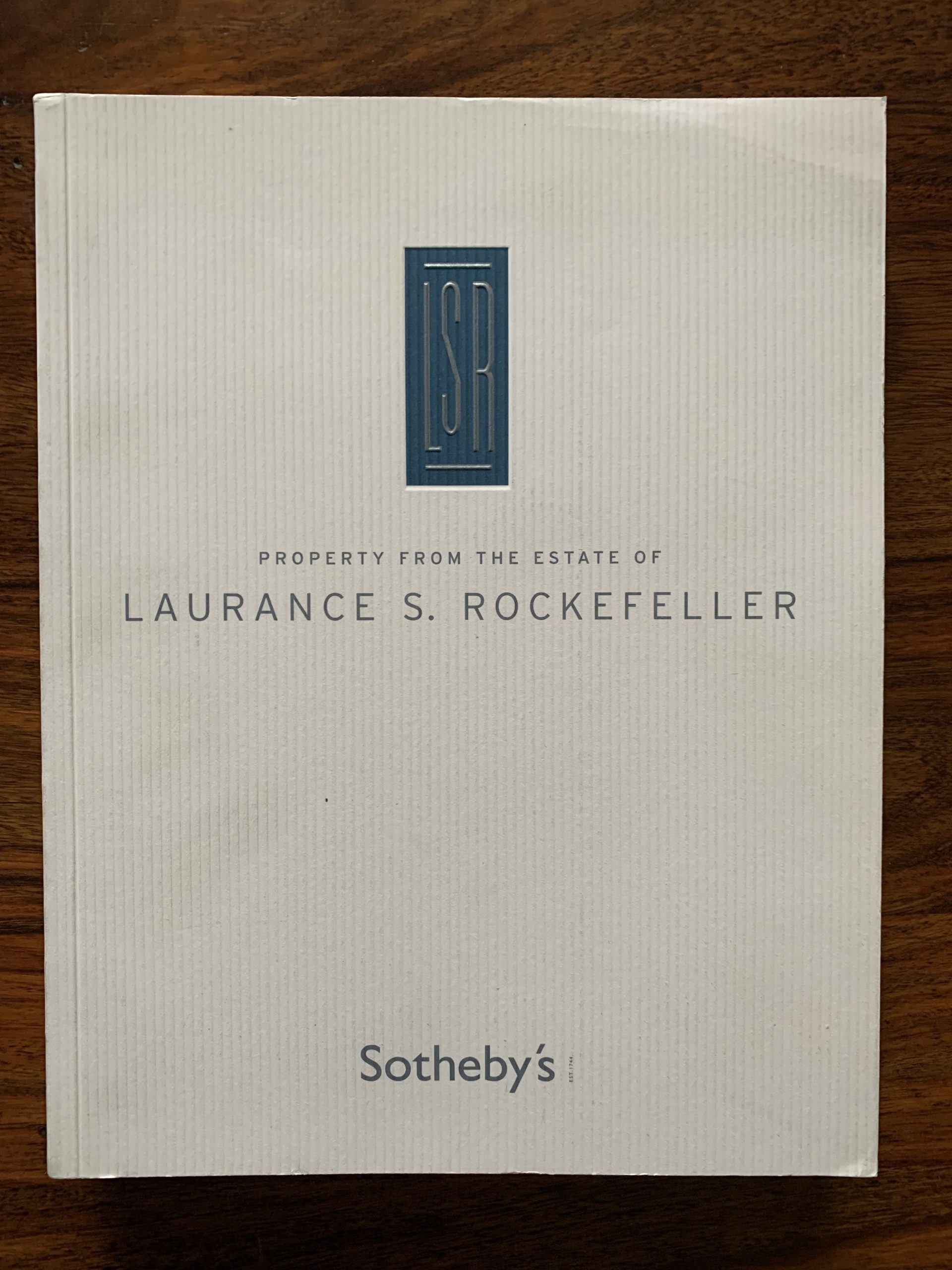 Sotheby's. Property From the Estate of Laurance S. Rockefeller.