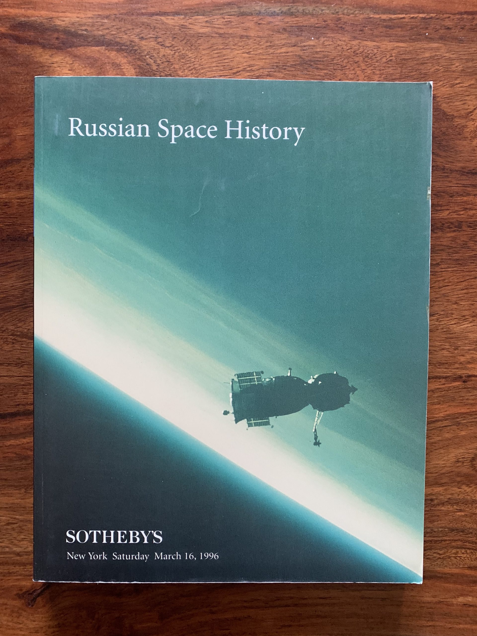 Sotheby's. Russian Space History.