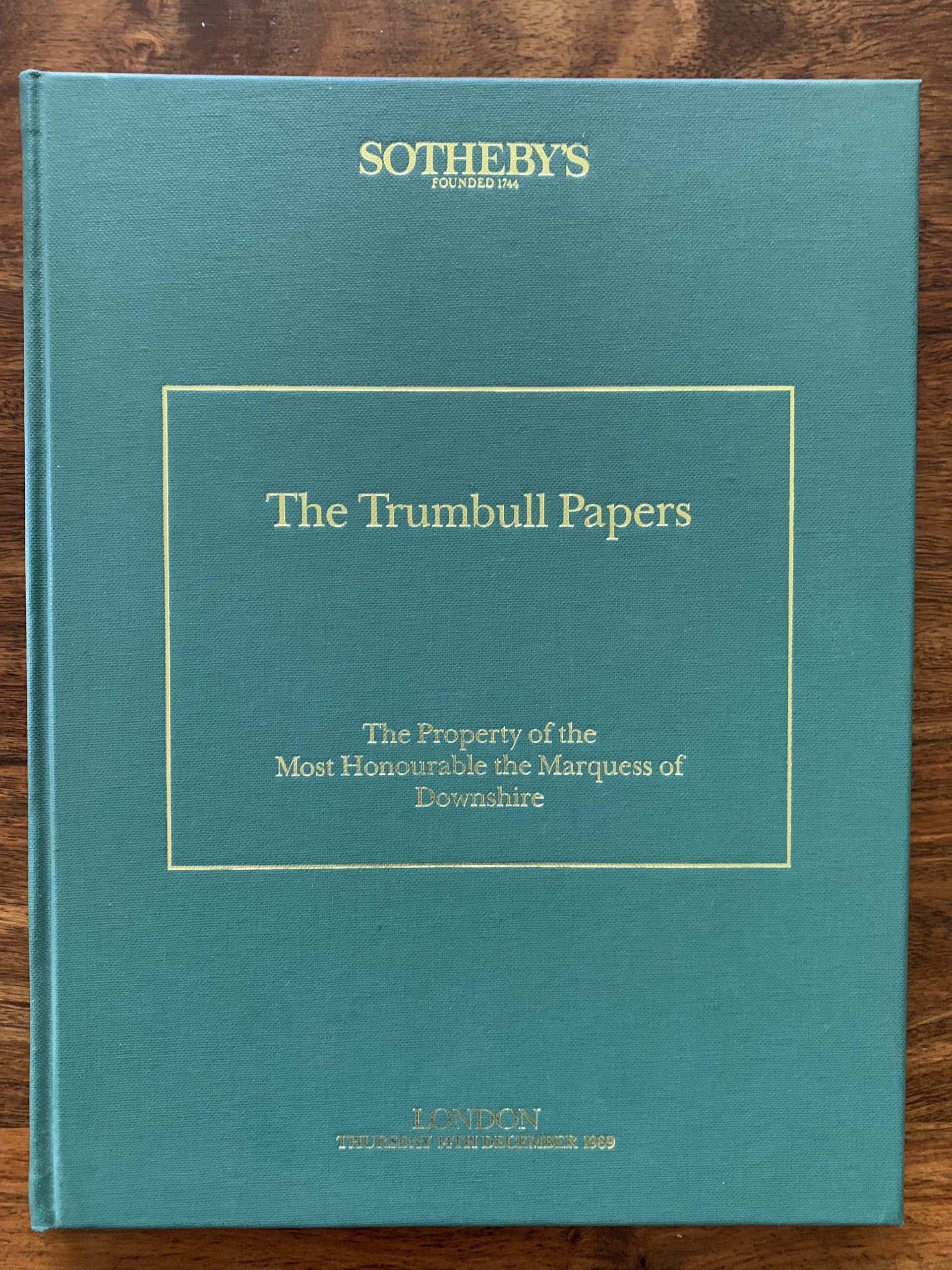 Sotheby's. The Trumbull Papers.